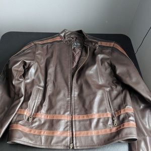 AS IS - Sergiobellini Faux Brown Leather Jacket